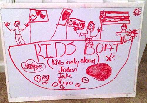 The original boat drawing